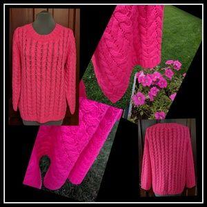 Joe Fresh Neon Pink Sweater Super Soft EUC  XL